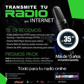 Transmita su Radio por Internet
