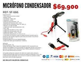 Micrófono condensador.