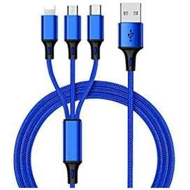 Cable pulpo para celular universal, carga Tipo C, V8 y iPhone
