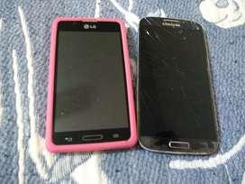 Vendo Samsung S4 y LG l7 para respuestos el LG solo hay qe cambiar la bateria
