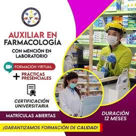 auxiliar en farmacologia  con mencion en laboratorio