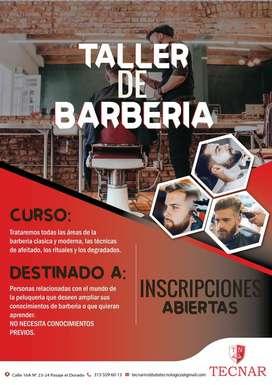 CURSO TALLER EN BARBERÍA