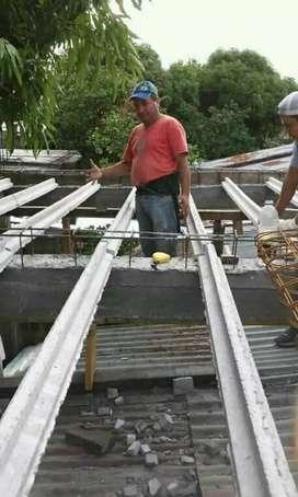 Realizamos trabajos de construcción. Loza.muros.techos.plomeria.herreria .colocación de membrana.