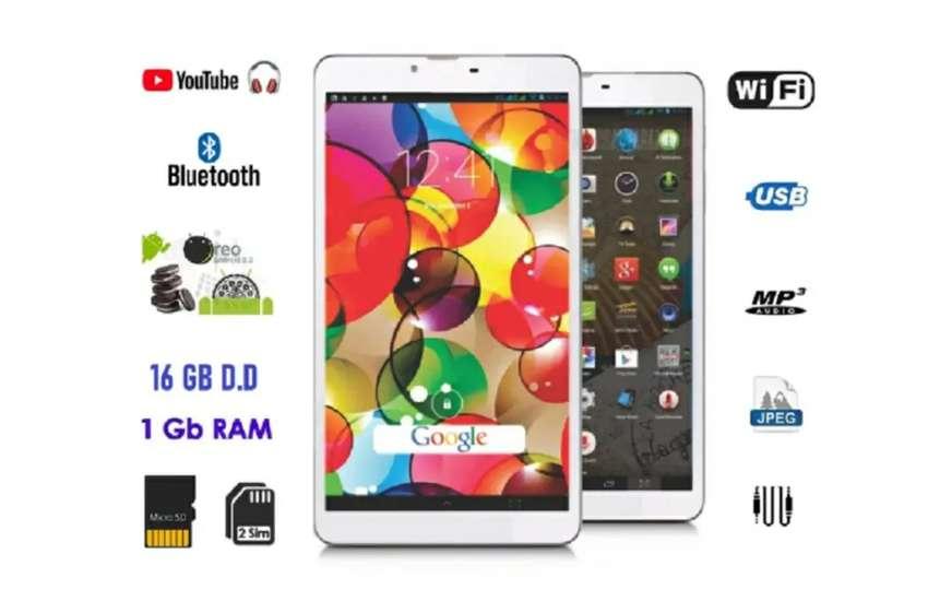 Tablet Celular 3G, D.D 16 GB, RAM 1 GB, Quad Core, Smartphone 7