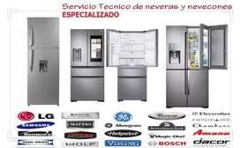 Tecnico de Neveras Aires acondicionados y Lavadoras a domicilio