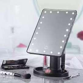 Espejo led rectangular pila