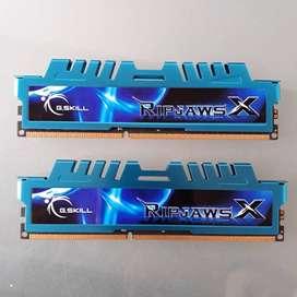 8GB Memoria RAM 4gb DDR3 x 2 - 2133 Pc Gskill 17000 Ripjaws X 2133mhz