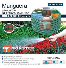 MANGUERA REFORZADA TRAMONTINA 15METROS y 18