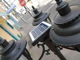 Lámpara farol solar LED exterior