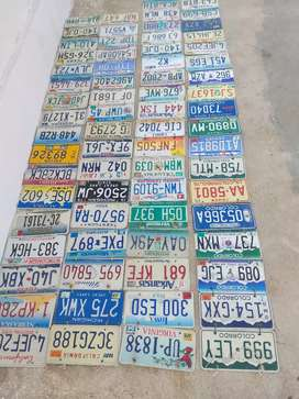 Placas de auto originales