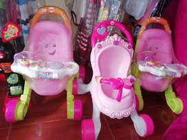 Andaderas y coche fisher price