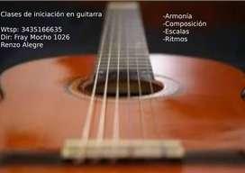 Clases de iniciación en guitarra