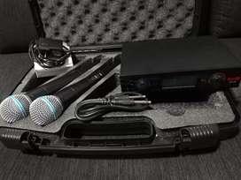 Micrófonos inalambricos proDj UHF32M