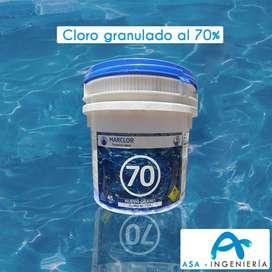 Cloro Estabilizado Al 70% por 45 Kg