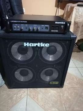 Amplificador de bajo Hartke Gabinete 410Xl + Hartke Cabezal Lh500 + funda