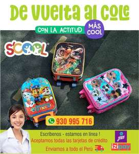 Mochilas Scool ORIGINAL -de vuelta al COLE