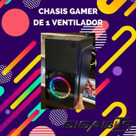 Chasis 1 Ventilador RGB+Fuente de poder