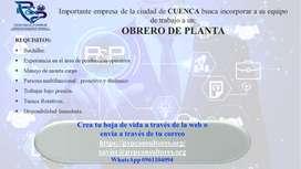 OBRERO DE PLANTA