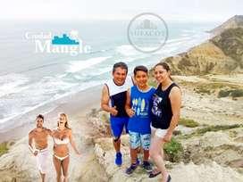VENTA DE LOTES en Ciudad Mangle sobre Acantilado de 90 metros de altura Frente al Mar / SD3