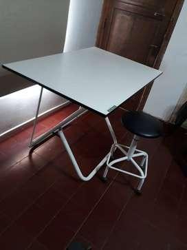 Mesa de Dibujo Schmitten con taburete