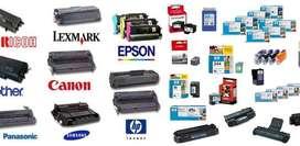 TINTA TONER HP LEXMARK SHARP RICOH CANON SAMSUNG KYOCERA XEROX 209 404/406 504/506 104S 105 108S 111S R116 119A 203 205