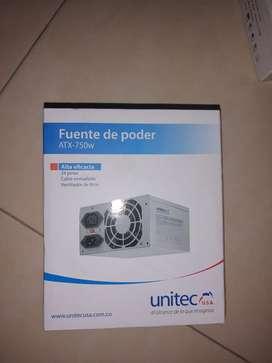 Fuente de poder marca Unitec