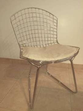 Vendo 4 (cuatro) Sillas estilo Bertoia (para Comedor/Cocina) Acero Hierro Diseño.