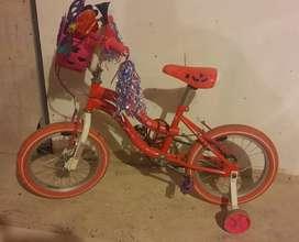 Bicicleta GW Rosada para niña de 4 a 5 años