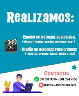Edición de material audiovisual y creación de imágenes