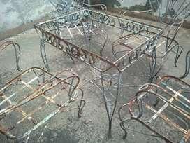 Juego de Jardín (mesa y 4 sillas) para restauración