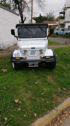 Mini Jeep Fiat 600 con Tráiler