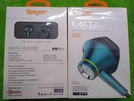 Audifonos Manos Libres Spigen Metal A-15 y A16