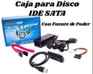 Caja para Disco IDE SATA con Fuente de Poder