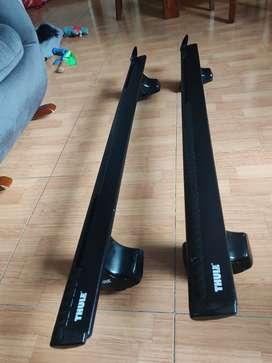Barras Thule Wingbar negras + paquete de pies 754002 + kit montaje Jetta