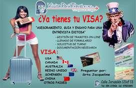 ASESORAMIENTO TRAMITE DE VISAS: USA, CANADA, AUSTRALIA, REINO UNIDO, SCHENGEN,CHINA Y OTROS PAISES.