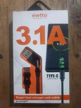 Cable USB Tipo C Carga Rápida Nuevo