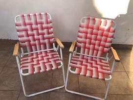 2 sillas exterior como nuevas