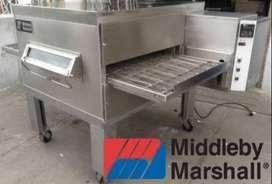 Hornos para pizza de cadena a gas middleby marshall pizzero banda transportadora cinta tunel