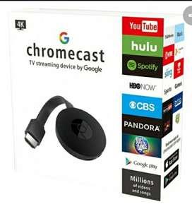 Chrome cast chromecast duplicador proyector de pantalla de celular en tv televisor convertidor en smart smartv tv box