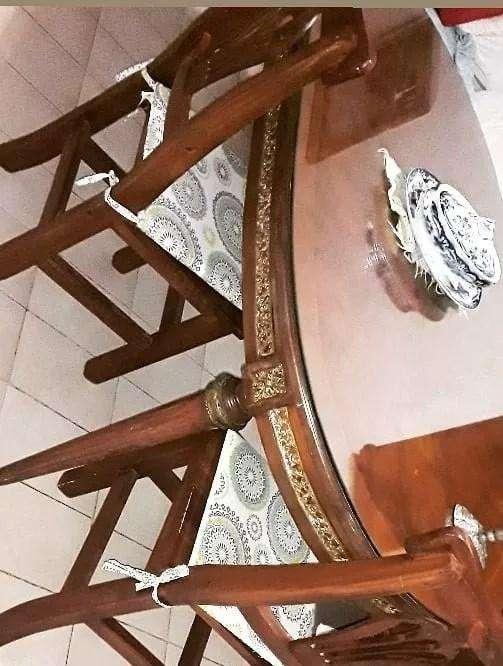 Mesa Ovalada Luis XVI Con Cristal Original y bronce .Extensible 0