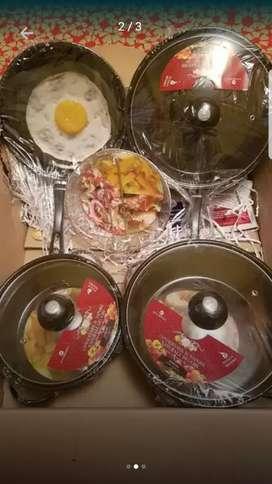 Set de juego de cocina x 5 unidades antiaderentes  nuevo en caja
