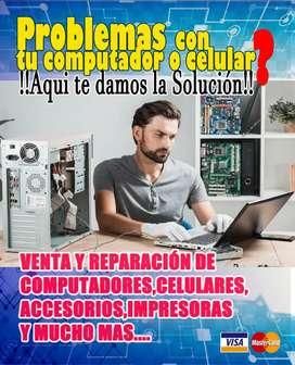 Reparación y mantenimiento de computadores y celulares