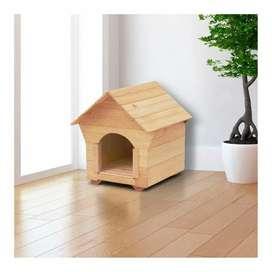 Casa para perros en madera