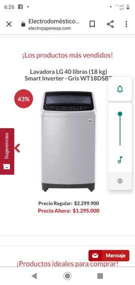 Venta de lavadora LG nueva