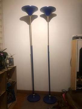 Vendo hermosas lamparas de piso estilo deco azul y dorado