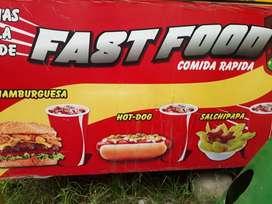Sra o srta para local de comida rapida