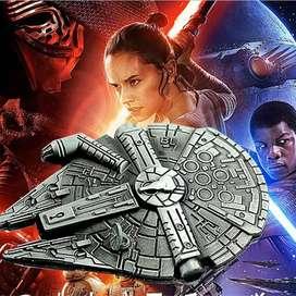 Star Wars Halcon Milenario Llavero Metal Han Solo Millennium