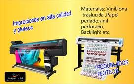 impreciones en vinil papel fotografico lona traslucida