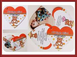 Tarjetas giratorias de Corazón 100 Personalizadas