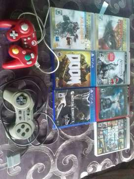 Video juegos de play 3 y play 4 y controles